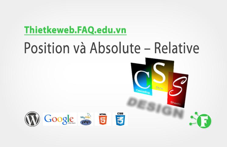 Bài 18. Position và Absolute – Relative